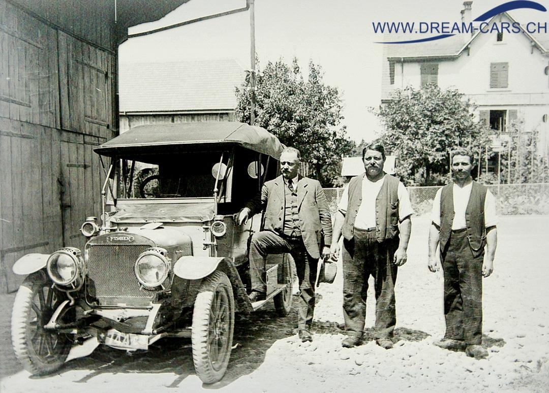 Ein Fischer Automobil, Foto aufgenommen um 1914